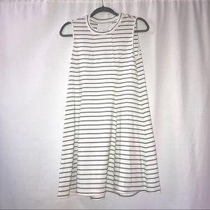 BCBGeneration White and Pinstripe Cotton Dress